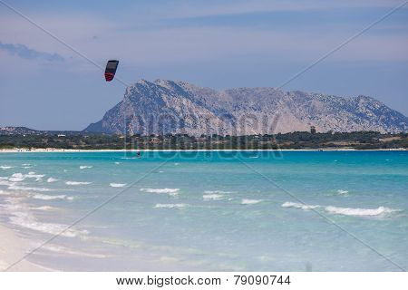 Panorama of beautiful beach in Sardinia, Italy
