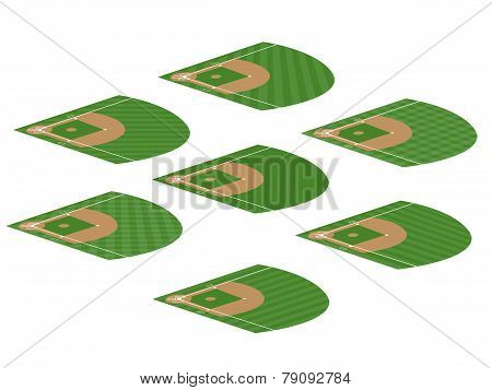 Set Of Baseball Fields 3
