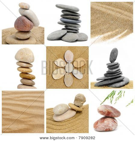 Zen Stones Collage