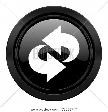 rotation black icon refresh sign