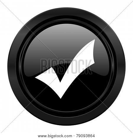 accept black icon check sign
