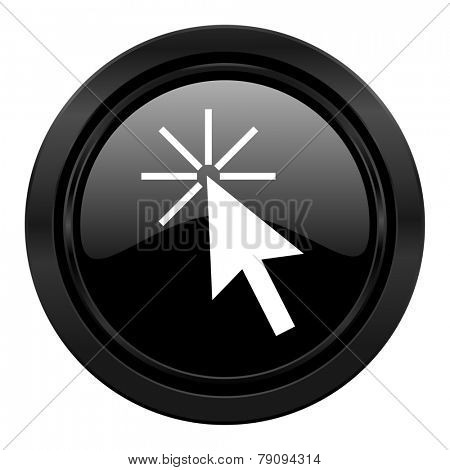 click here black icon