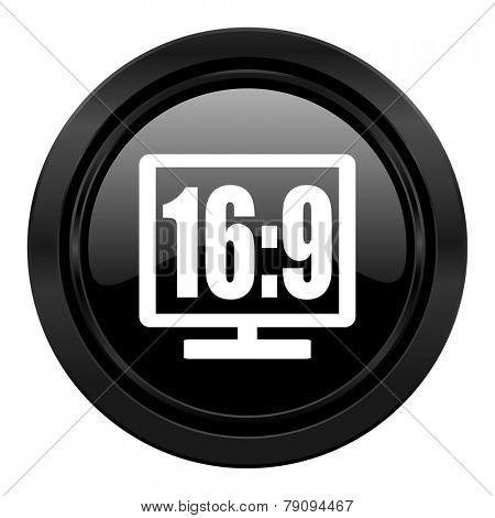 16 9 display black icon