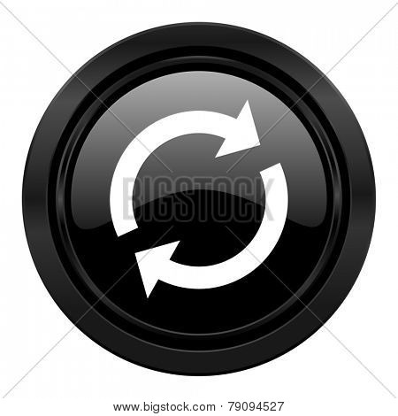 reload black icon refresh sign