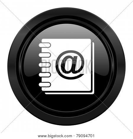 address book black icon