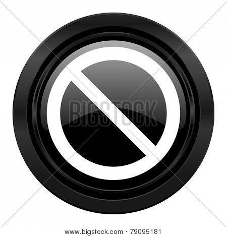access denied black icon