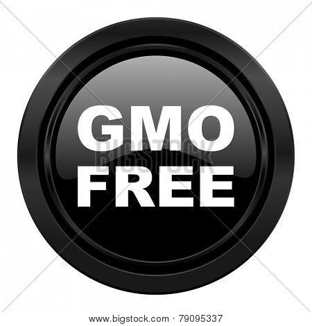 gmo free black icon no gmo sign