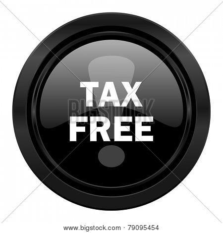 tax free black icon