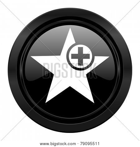 star black icon add favourite sign