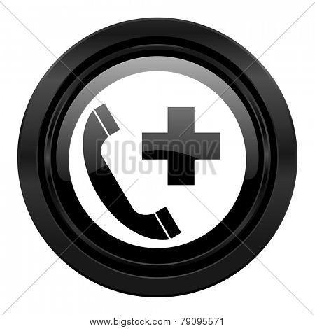 emergency call black icon