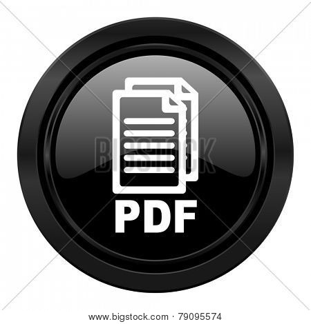 pdf black icon pdf file sign
