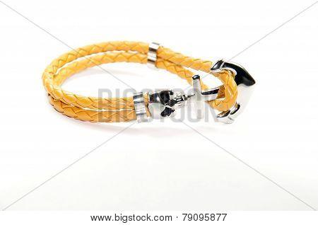 leather skull figure men bracelet