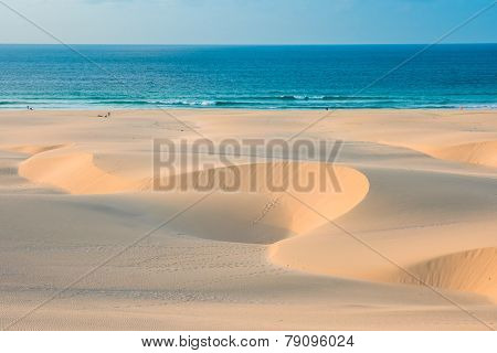 Sand Dunes  In Chaves Beach Praia De Chaves In Boavista Cape Verde - Cabo Verde
