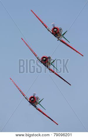 3 Harvards in formation