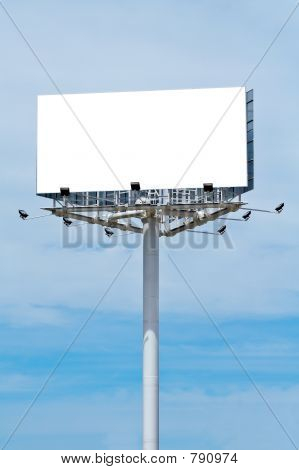 Blank Billboard On Cloudy Sky