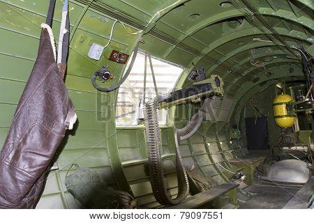 Gunner Turret Inside B-17G Bomber