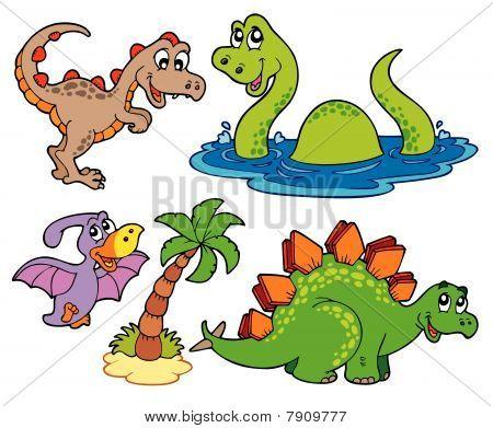 Various dinosaur collection