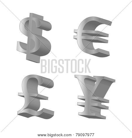 Silver Currencies Symbols
