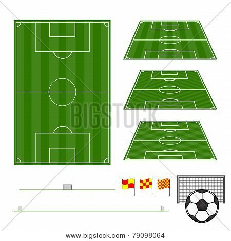 Football Fields Vertical And Diagonal Patterns