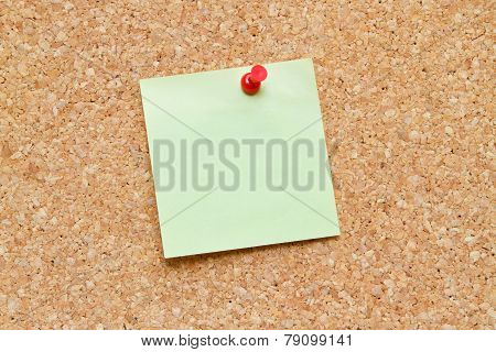 Blank Note On A Cork Board