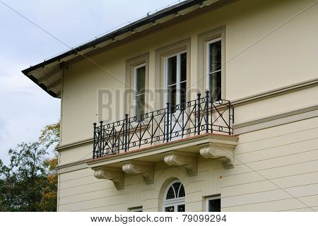 Part Of The House With The Old Balcony