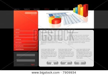 Red website template