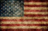 picture of american flags  - American flag on the stained grungy background - JPG