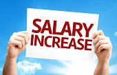 stock photo of employee month  - Salary Increase card with a beautiful day - JPG