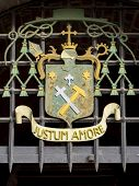 pic of amor  - Justum amore in an escutcheon in Szeged - JPG