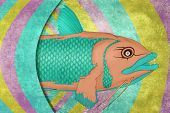 picture of catfish  - Cosmic psychedelic fish - JPG
