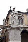 stock photo of alighieri  - Statue of Dante Alighieri in Piazza dei Signori - JPG
