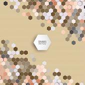 picture of hexagon pattern  - Geometric background - JPG