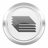 image of gage  - layers metallic icon gages sign  - JPG