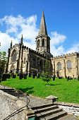 stock photo of church-of-england  - All Saints Parish Church and churchyard Bakewell Derbyshire England UK Western Europe - JPG