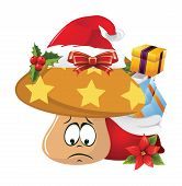 picture of sad christmas  - Illustration of christmas cartoon face emotions on white background - JPG