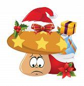 pic of sad christmas  - Illustration of christmas cartoon face emotions on white background - JPG