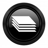 picture of gage  - layers black icon gages sign  - JPG