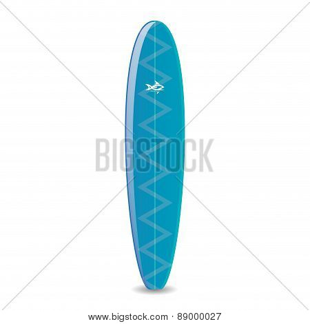 surfboards on a white background. Vector illustration