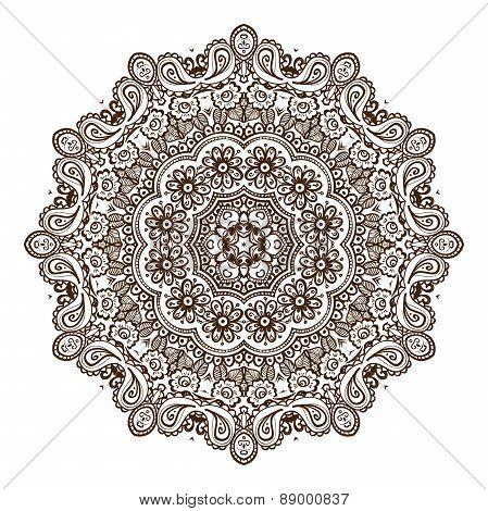 vintage circular pattern of indian