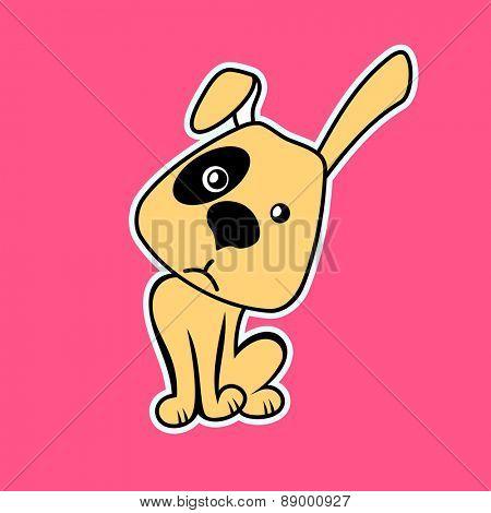 Funny Cartoon Dog. Vector illustration pet happy