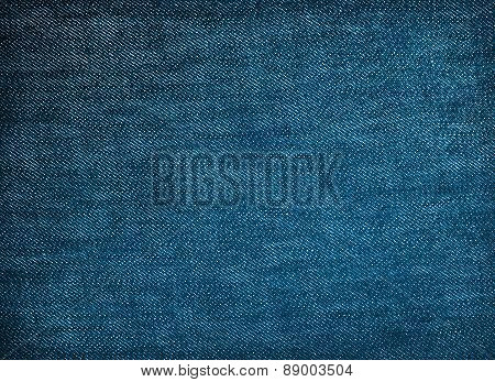 Blue Denim Fabric Texture For Background