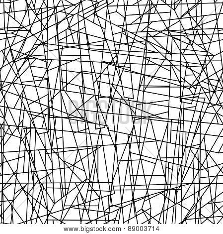 Abstract Chaotic Lines In A Seamless Pattern
