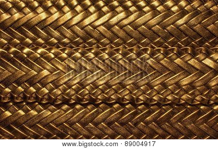 Golden Texture For Background Weaving