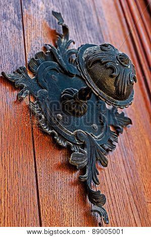 Detail Of A Medieval Wooden Door 2