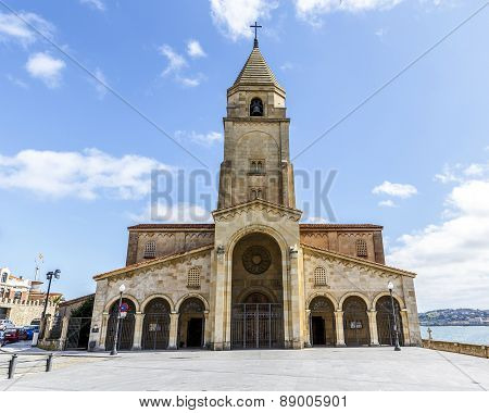 San Pedro's Church In Gijon, Asturias