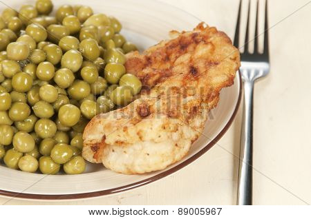 Chicken Meat With Green Peas
