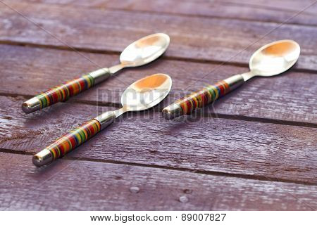 Background Striped Tablespoons