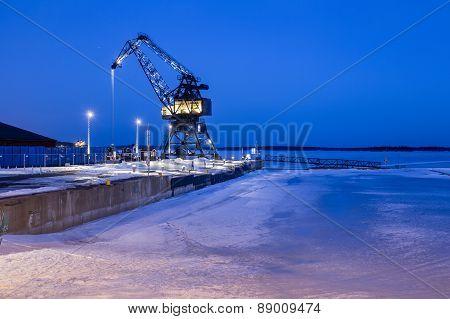Crane in Lulea South harbour