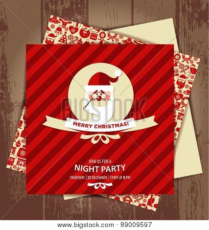 Invitation card of christmas