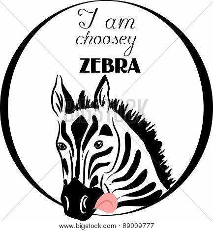 Choosey Zebra